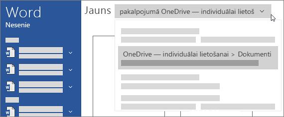 Jauna OneDrive