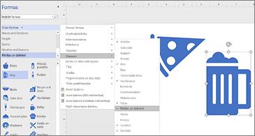 Diagramma ar divām ikonām