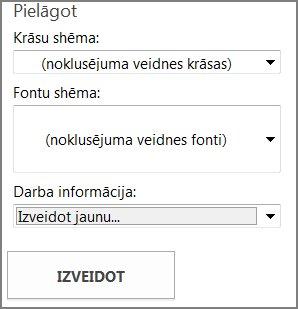 Pastkartes veidnes opcijas veidnēm no vietnes Office.com.
