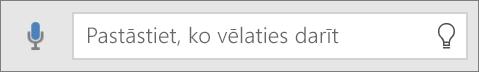 Rāda meklēšanas lodziņu Priekšāteikšana pakalpojumā Office Mobile