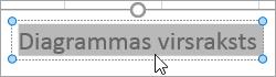 Diagrammas virsraksta teksta atlasīšana