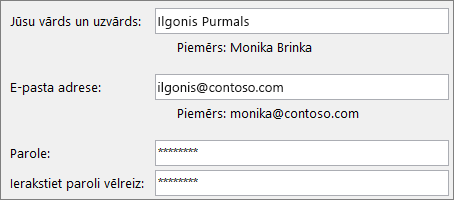 Īsā pamācība darbiniekiem: Outlook e-pasta konta izveide