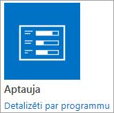 Aptaujas programmas ikonas, kas iekļauts kopā ar SharePoint
