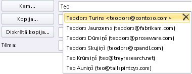 Automātiskās pabeigšanas saraksts