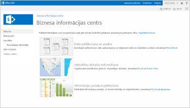 Biznesa informācijas vietnes veidne