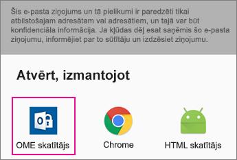 OME skatītājs ar Gmail Android 2