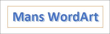 WordArt piemērs