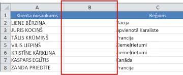 Empty column for entering formula