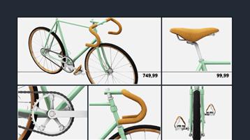 Pielāgotas izklājlapas izveide par velosipēdiem