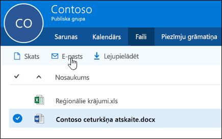 Atlasiet failu, lai iespējotu pogas skatīšanai, sūtīšana pa e-pastu vai lejupielādējot.