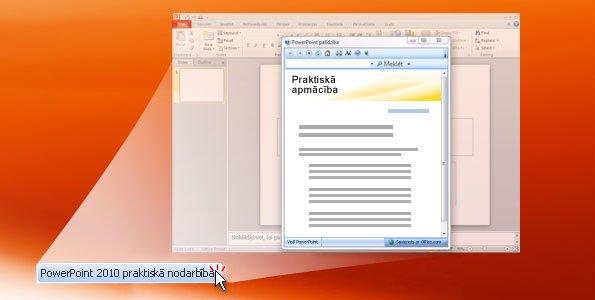 Praktiskā nodarbība: PowerPoint2010