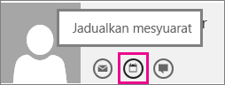 Schedule a meeting button in Outlook Web App