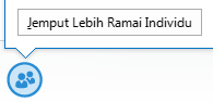 Petikan skrin ikon menjemput lebih ramai individu daripada tetingkap IM