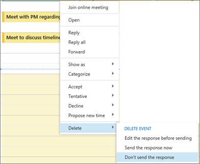 Delete meeting