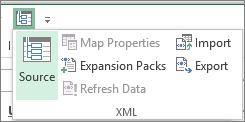 Pada Bar Alat Capaian Segera, klik XML