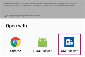 OME Viewer dengan aplikasi e-mel Android 2