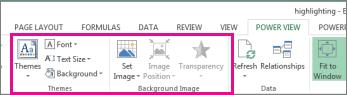 Alat pemformatan laporan dalam Power View