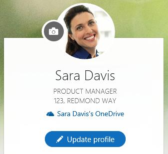 Klik Kemas kini profil untuk mengubah maklumat anda
