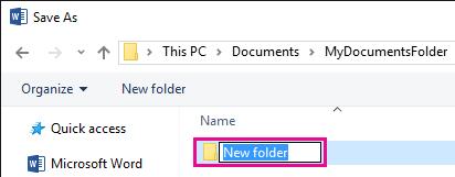 Namakan semula folder baru.