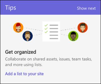 SharePoint Online Laman penggunaan Petua
