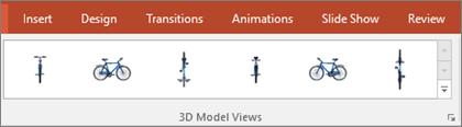 Galeri pandangan Model 3D memberikan anda beberapa Praset yang berguna untuk menyusun pandangan imej 3D anda