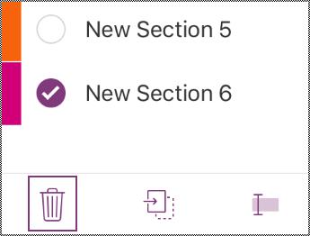 Mengalih keluar butang seksyen dalam bar menu iPhone.