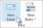 mengklik e-mel baru