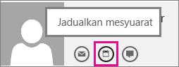 Butang jadualkan mesyuarat dalam Outlook Web App