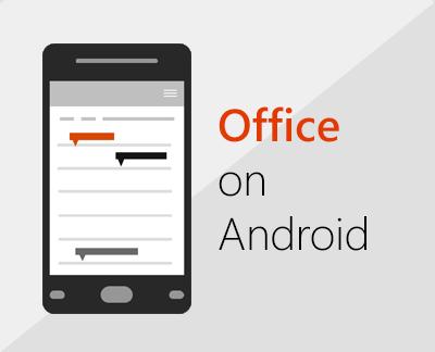 Klik untuk menyediakan Office for Android