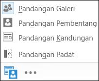 Petikan skrin pilih pandangan dengan Pandangan Galeri dipilih