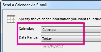 Dalam kotak Kalendar dan Julat Tarikh, pilih opsyen yang anda inginkan