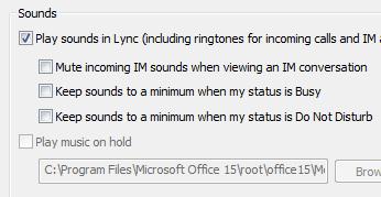 Mengubah seting isyarat Lync