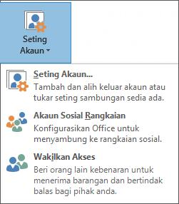 Petikan skrin menambah wakil dalam Outlook