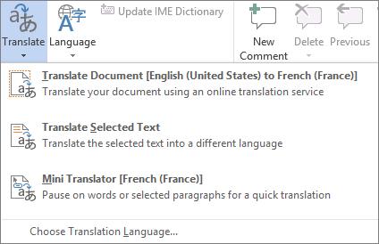 Menterjemahkan dokumen atau mesej