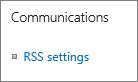 Seting komunikasi (RSS) senarai
