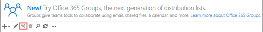 Klik atau ketik naik taraf ke ikon Kumpulan Office 365