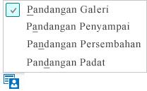 Petikan skrin bagi pandangan mesyuarat tersedia dengan Pandangan Galeri dipilih