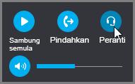 Sambung semula panggilan, pindahkan panggilan atau tukar peranti audio