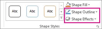 Kumpulan Gaya Bentuk pada tab Format Alat Melukis
