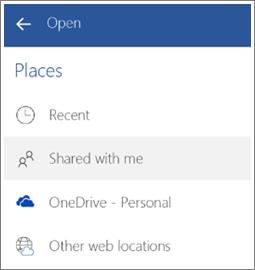 Petikan skrin cara untuk melihat fail yang dikongsi dengan anda dalam Android.