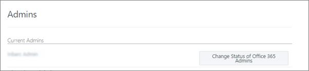 Tangkapan skrin yang menunjukkan akaun Pentadbir Disahkan yang disegerakkan sebagai Pentadbir Sejagat dalam Office 365
