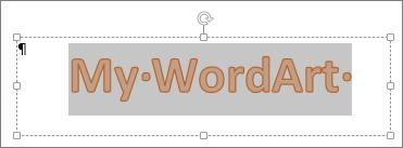 WordArt yang telah dipilih