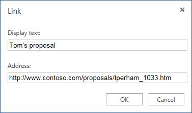 Menyelitkan hiperpautan bagi alamat web