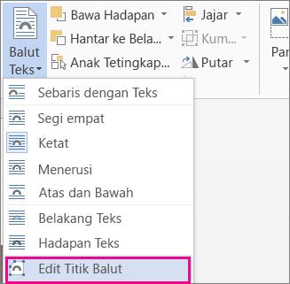 Edit Titik Balutan
