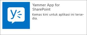 Kemas kini aplikasi Yammer untuk SharePoint
