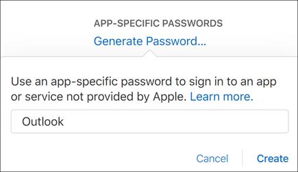 Masukkan nama untuk kata laluan aplikasi anda