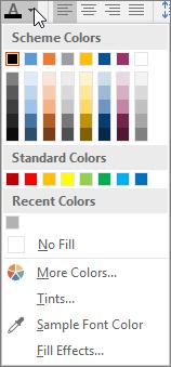 Palet warna fon