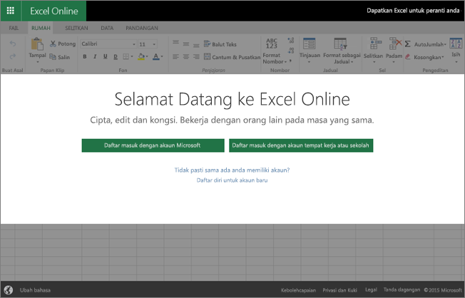 Welcome to Excel Online, where you can create, view, and edit workbooks in a browser