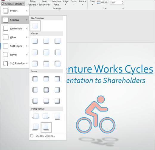 Menambah kesan seperti imej bayang kepada grafik SVG anda dengan alat kesan grafik