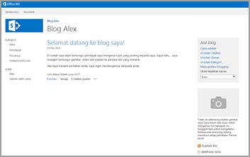 Templat Laman Blog